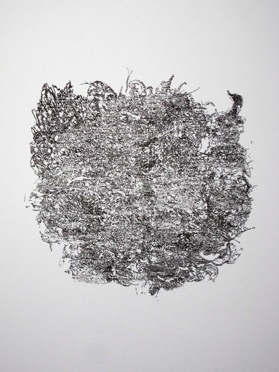 Intricate work in Indian ink on paper